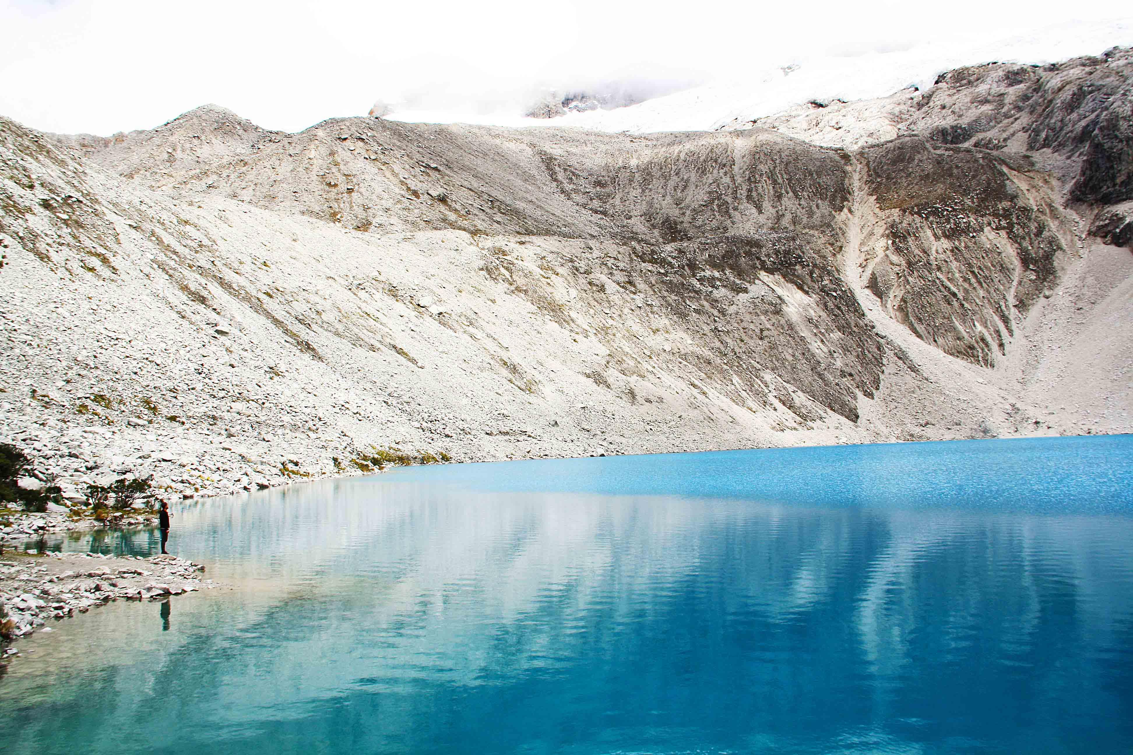 laguna 69 glacier lake peru