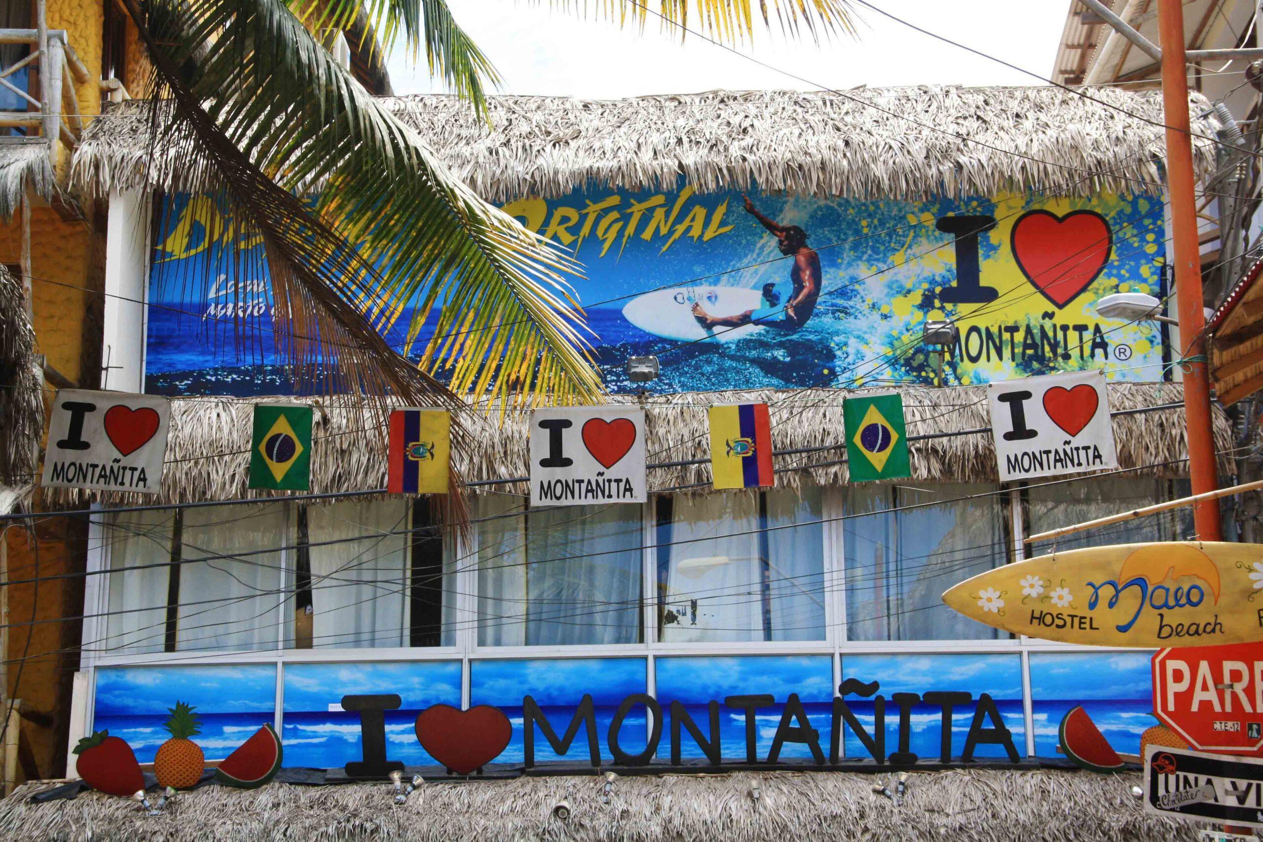 Montanita street signs ecuador