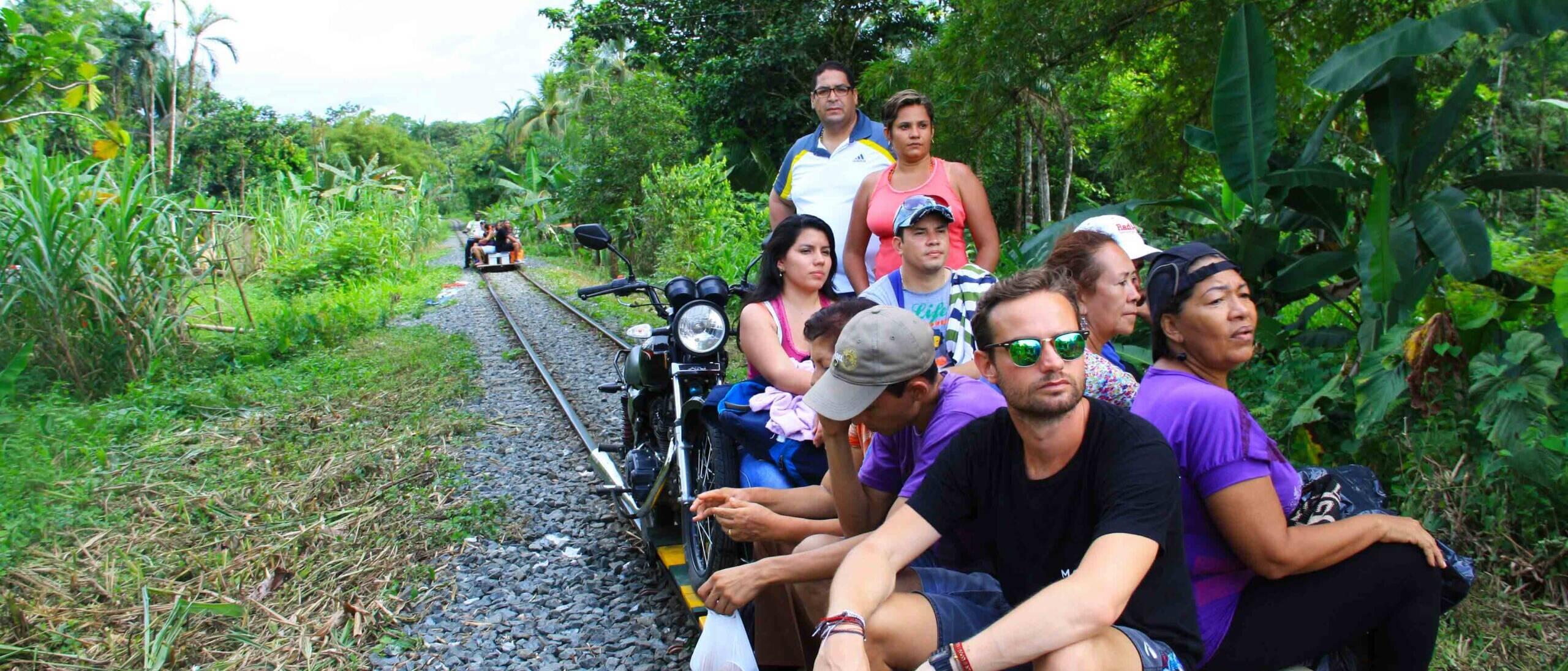 moto train San Cipriano in Colombia