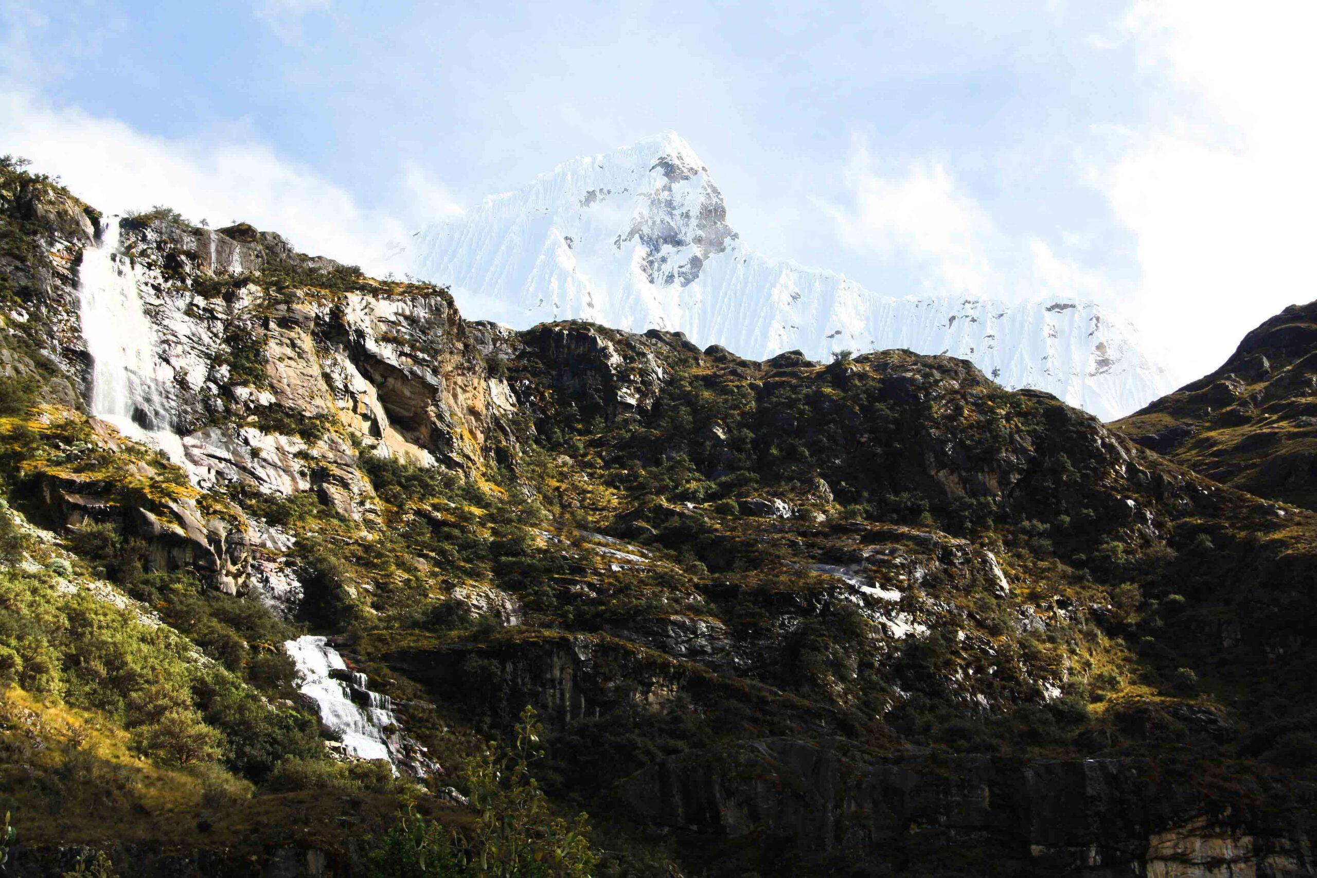 The Cordillera Blanca in Huaraz Peru