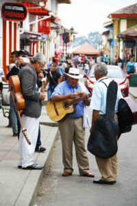 musical men in the streets of Salento