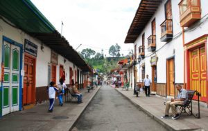 salento streets in Colombia