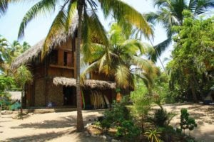 Accommodation at Costeño Beach surf camp Colombia