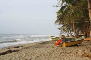 colorful boats fisherman at costeno beach