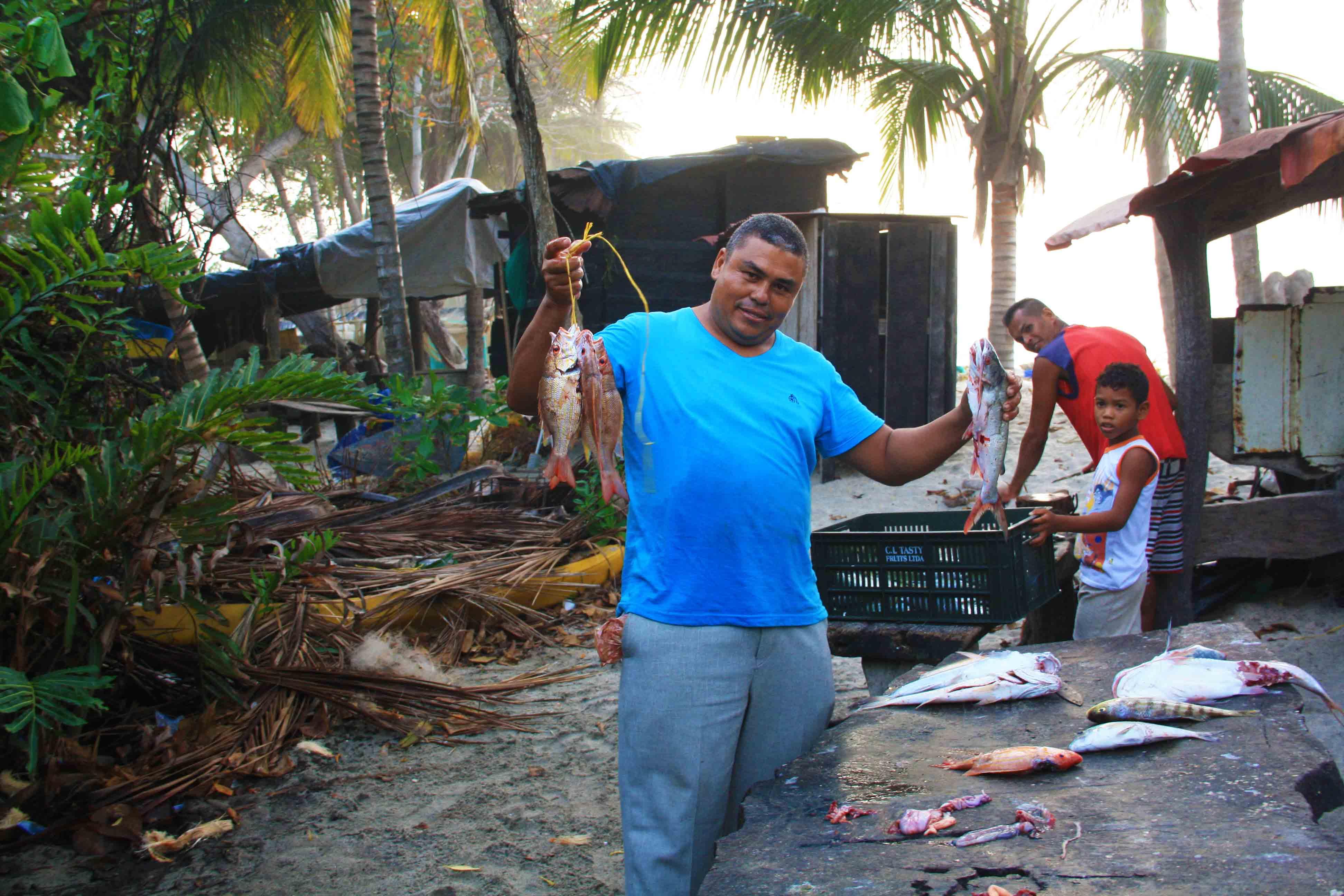 fishermen at costeno beach