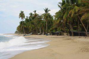 Fishermen village close to Costeño Beach Colombia