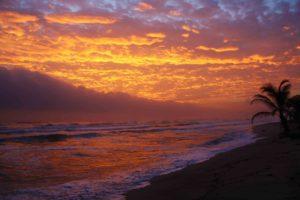 sunrise sky at costeno beach