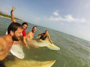 surfing costeno beach in Colombia