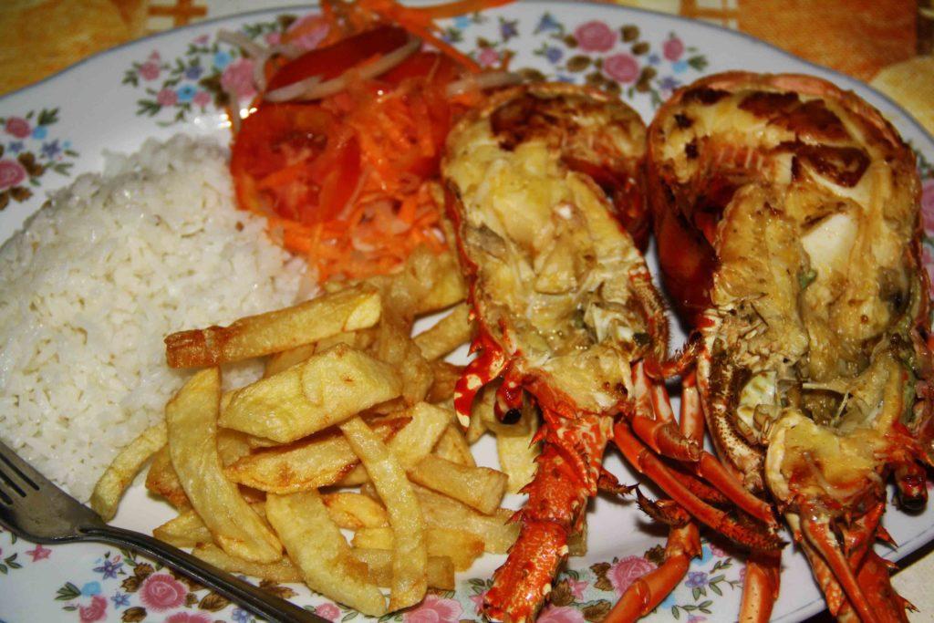 lobster for dinner at Cabo de La vela