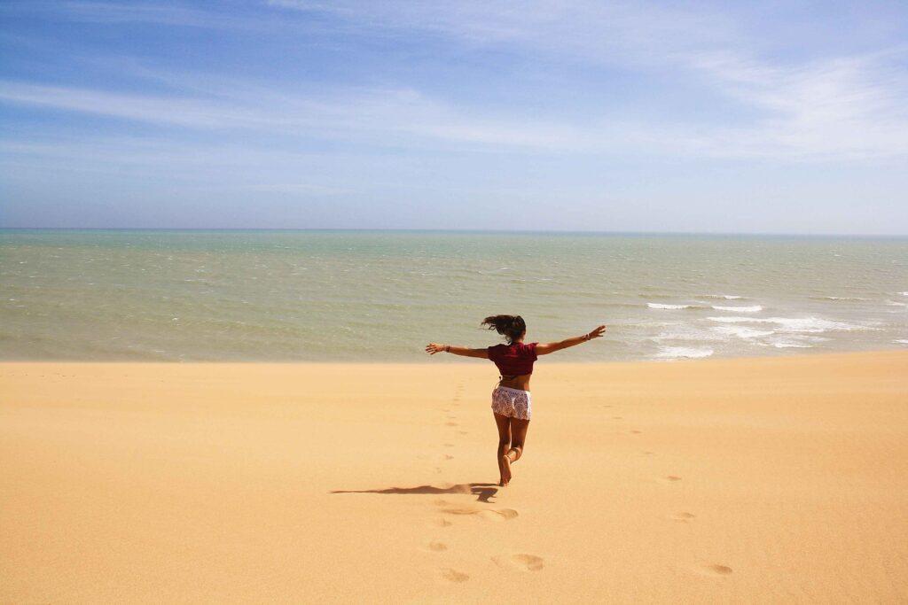 running desert dunes Punta Gallinas