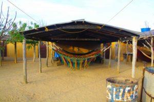 Sleeping in hammocks in Punta Gallinas