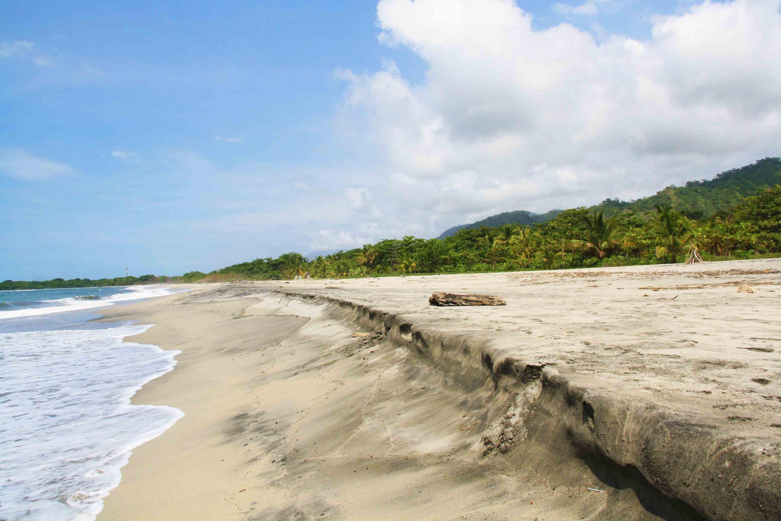 beach on the caribean coast of colombia near rancho relaxo