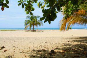 Beach at the Caribean coast Colombia