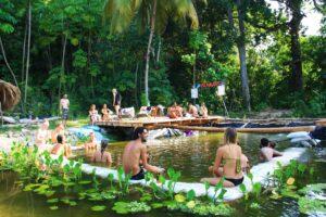 Natural swimming pool at Rancho Relaxo