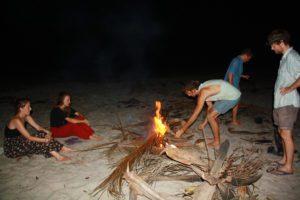 Bonfires at the beach Palomino