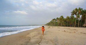 sunset beach walks on Palomino beach