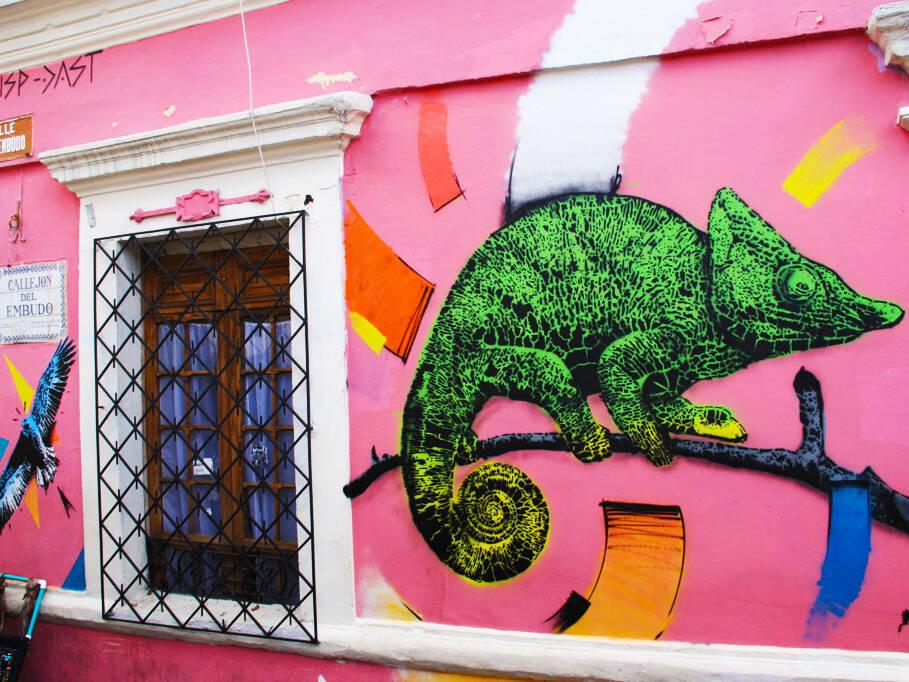 bogota street art tour through la candelaria