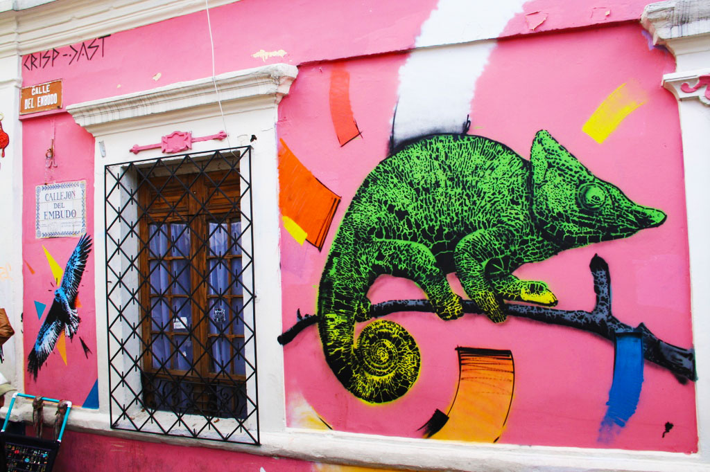 bogotá street art tour crisp through la candelaria