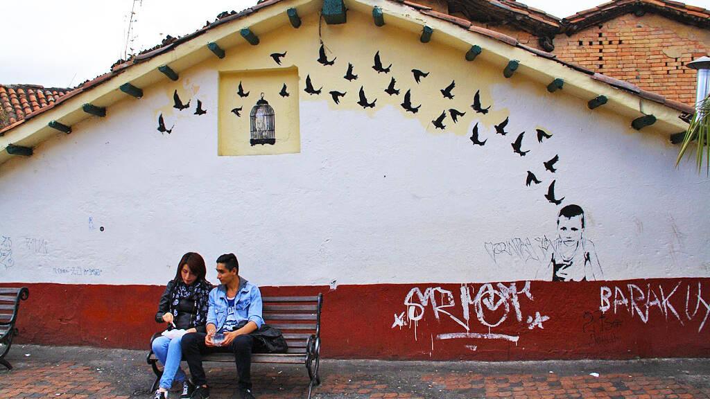 Street life in Bogota Colombia
