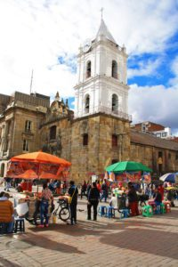 downtown bogota shops and church