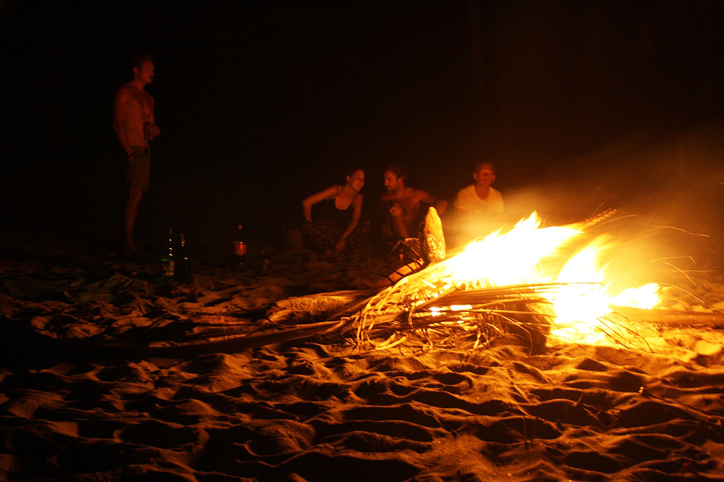 Bonfires at the beach Palomino