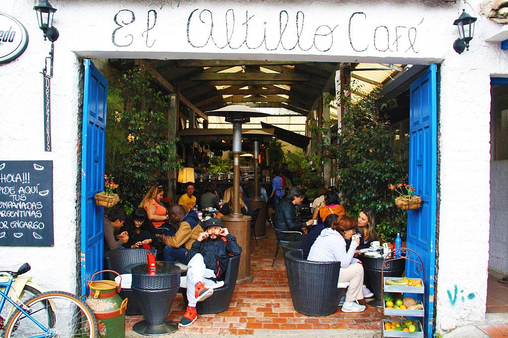 Cafe at the sunday usaquen market bogotá