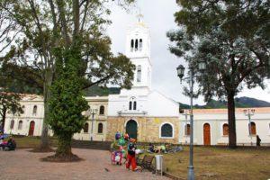 Little church in Usaquen Bogota Colombia