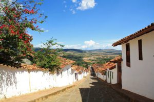colonial town Barichara in Colombia