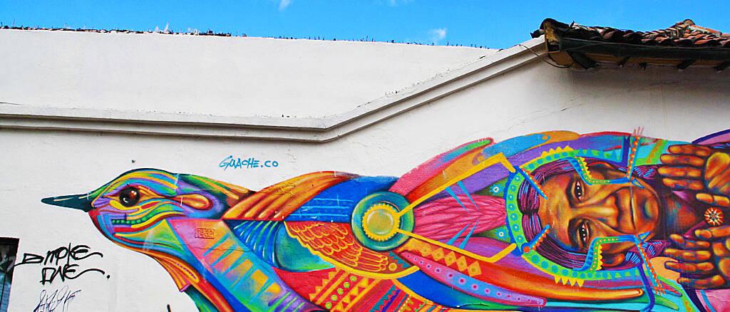 street art in La Candelaria bogota