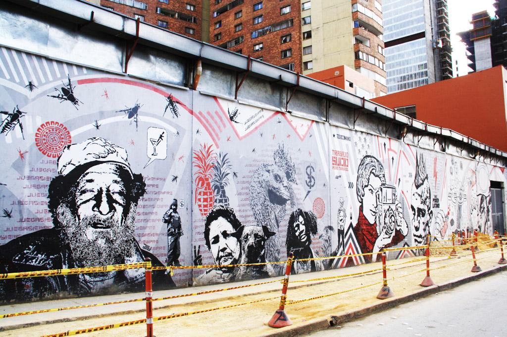 street art in downtown Bogotá
