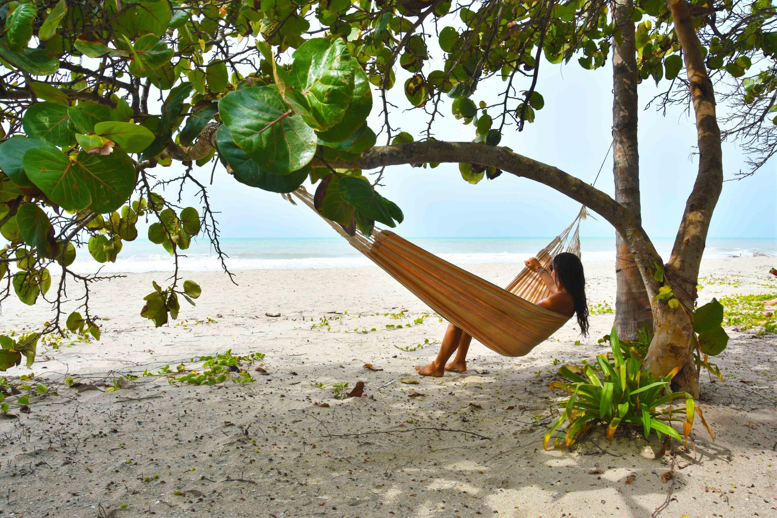 hammock at La Sirena Palomino beach