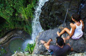 juan curi waterfall view on the edge