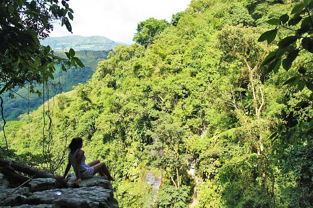 Juan Curi waterfalls view San Gil