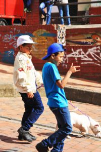 kids in the streets of bogota