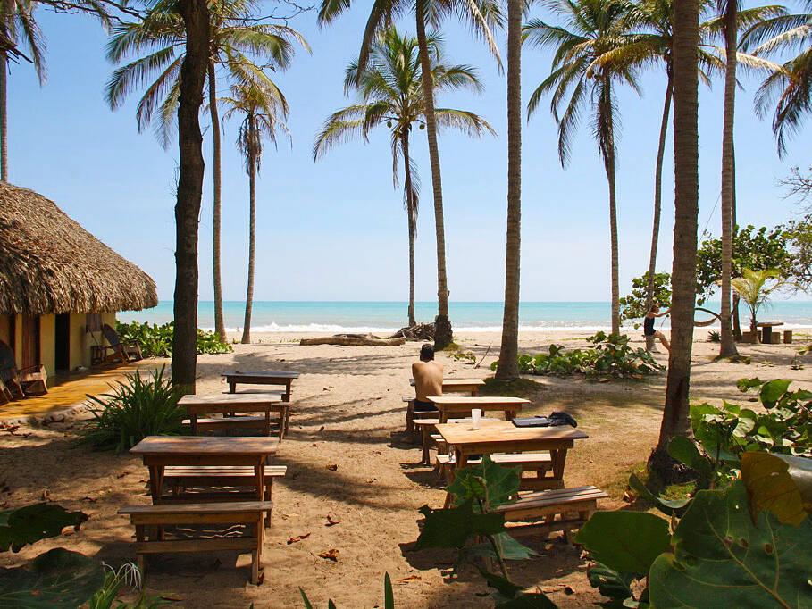 La Sirena restaurant beach view Palomino