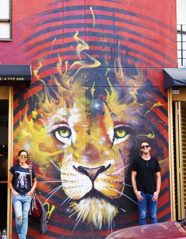 lion street art tour bogotá