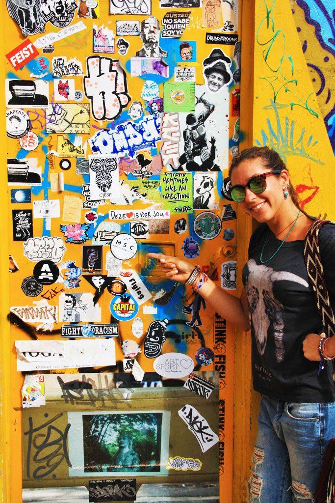 street art stickers mokum surf club bogotá