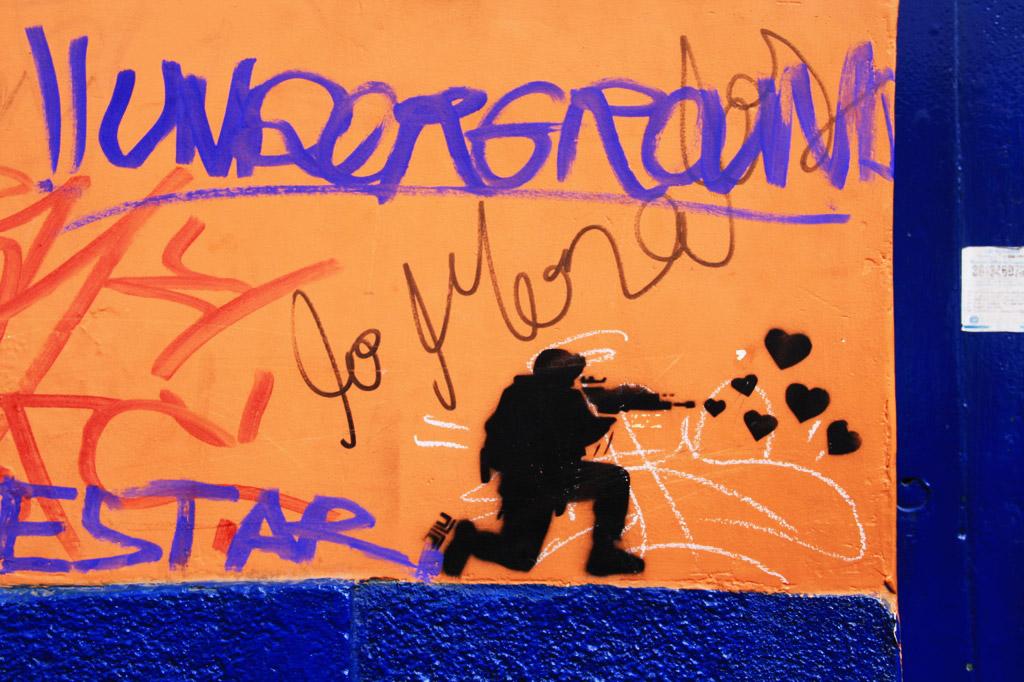 street art print bogotá colombia