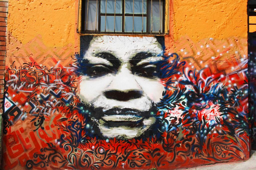 street art tour through downtown bogotá