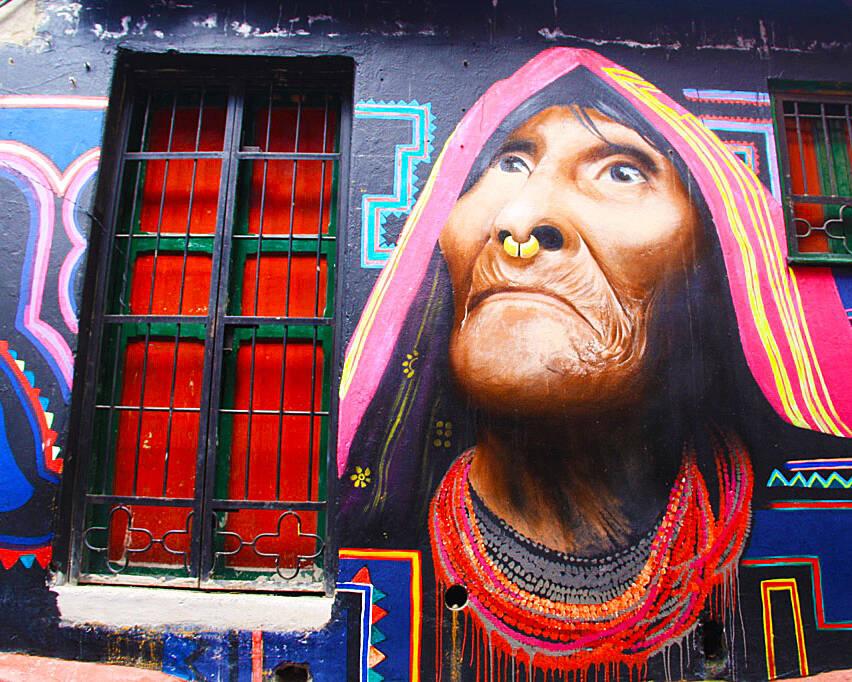 street art tour la candelaria bogota
