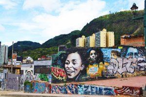 street art volunteering project bogota la candelaria