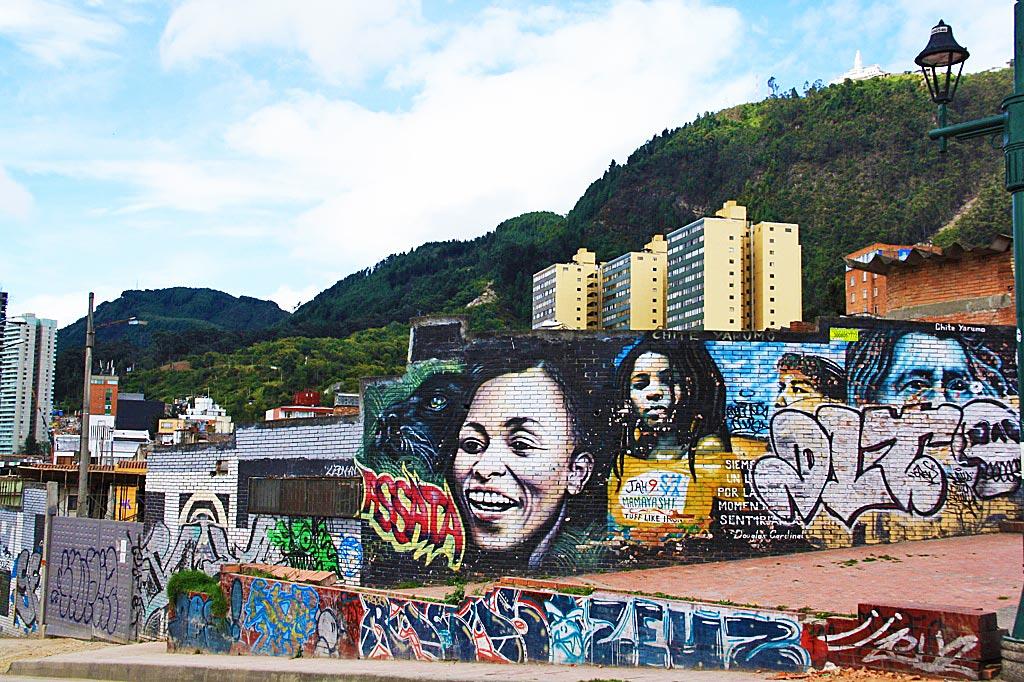 street art volunteering project bogotá la candelaria