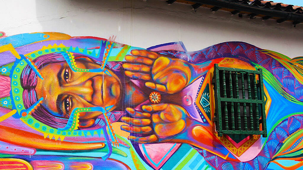 Street art tour through Candelaria Bogota in Colombia
