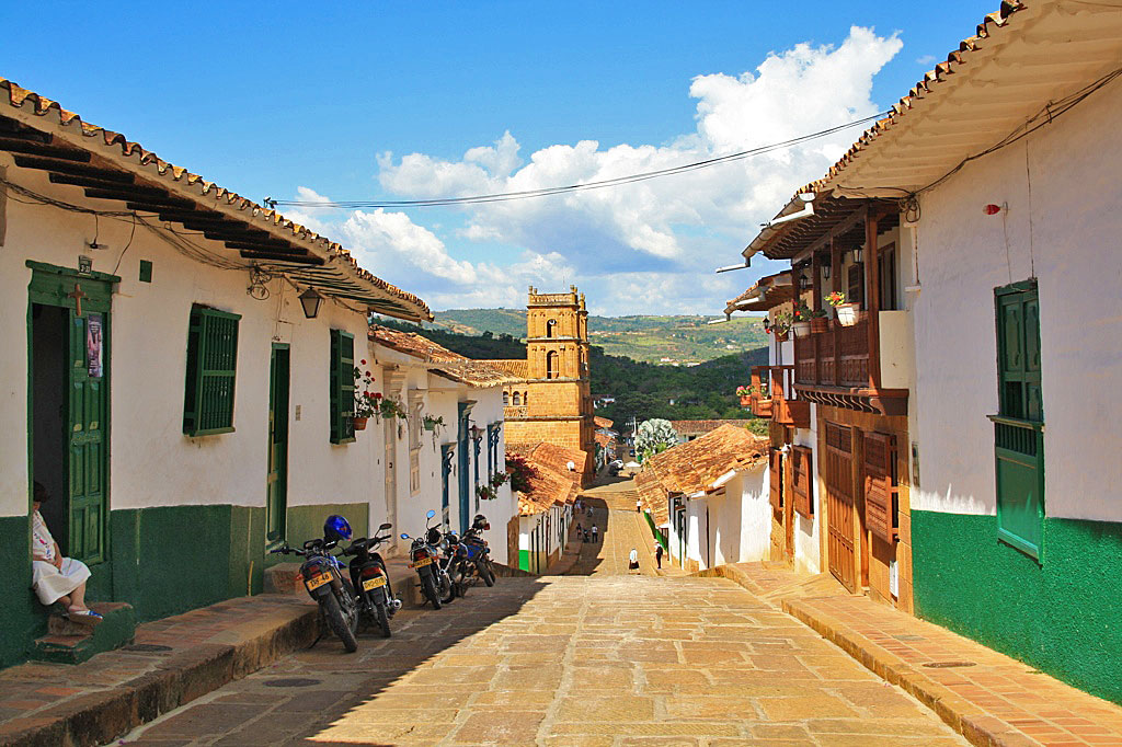 Streetlife in the colonial town of Barichara