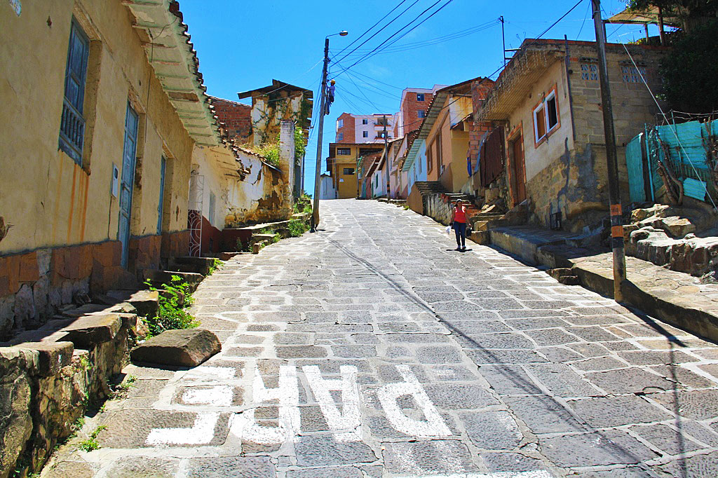 streets of San Gil Colombia