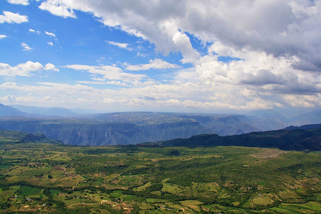 view of the chicamocha canyon