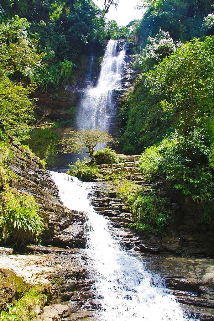 Juan Curi waterfall in San Gil Colombia South America