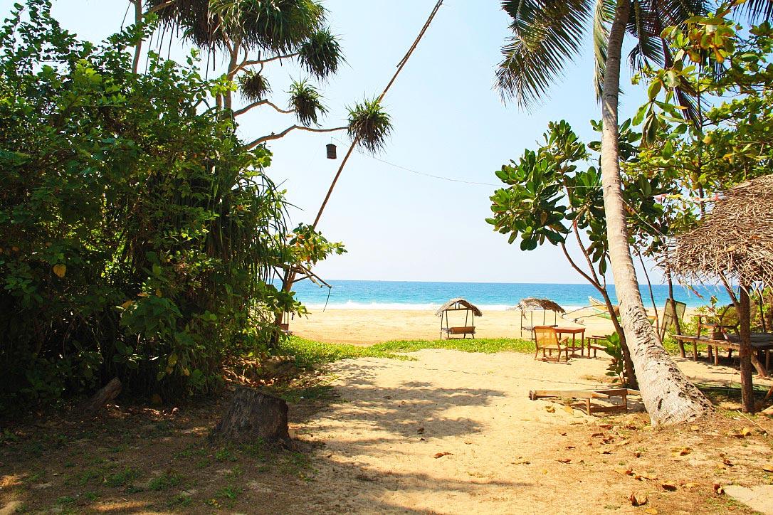 beach view Talalla bungalows sri lanka