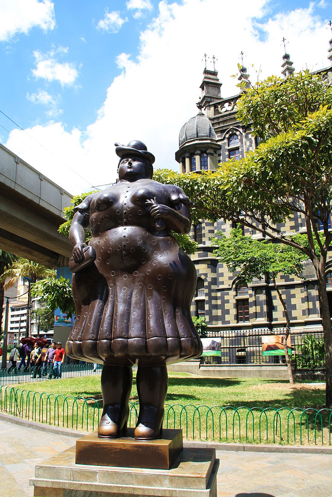 woman statue by Botero Medellin