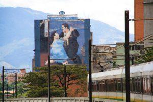 Botero street art Medellin metro